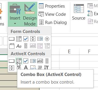 Combo Box on ActiveX Controls