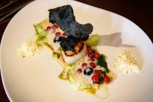 Restaurant JAN, Nice, France - Pan-fried scallops, herring eggs