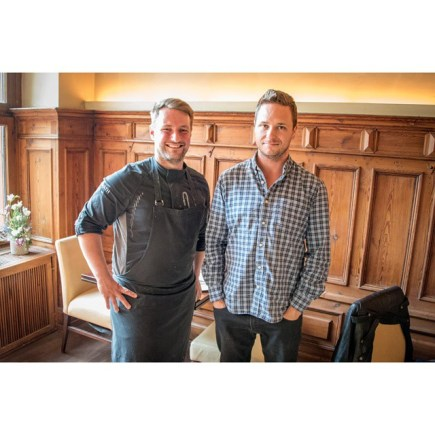Chef Sebastian Frank and Cedric Lizotte