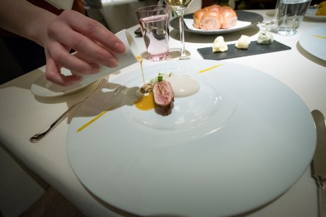 Dallmayr, Restaurant in Munich: stuffed quail breast and its vinaigrette