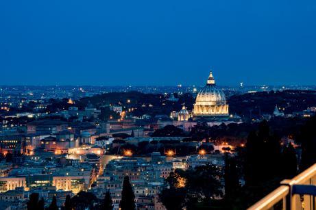 La Pergola, Rome - The view of the Vatican - Rome restaurants
