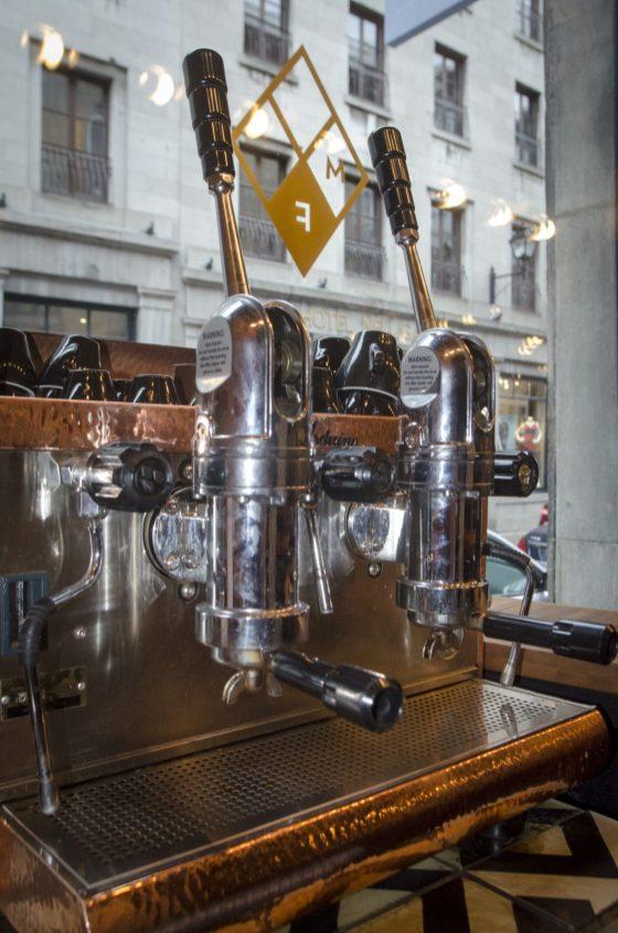 Restaurant Vieux-Montréal: Mangiafoco - Machine à espresso manuelle