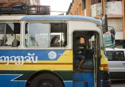 Quoi voir au Laos: Un autobus
