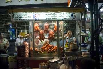 Dishes in Bangkok street food