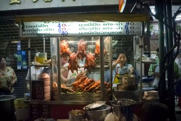 Dishes in Bangkok street food
