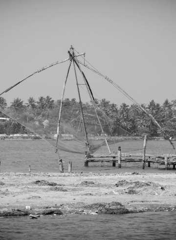 The Chinese fishing nets of Kochi, Kerala, India