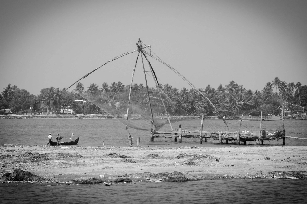 The Chinese fishing nets of Kochi, Kerala, India