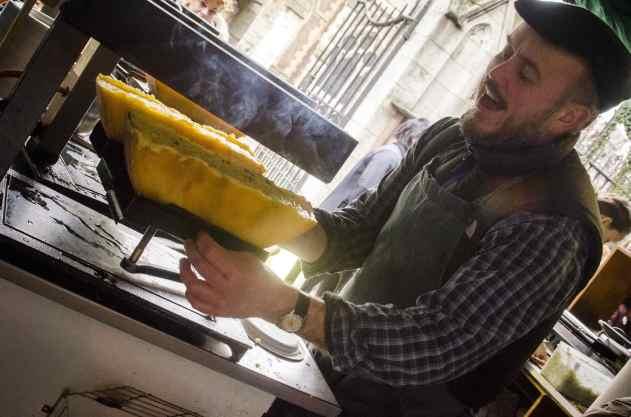 Quartiers de Londres: Raclette au Borough Market