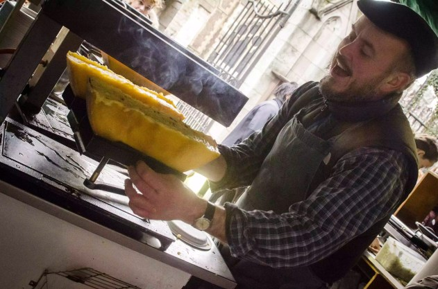 Quartiers de Londres: Raclette au Borough Market