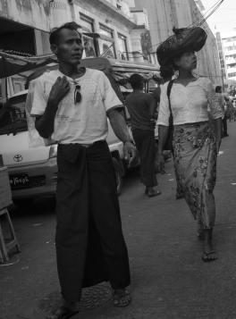Un couple à Yangon