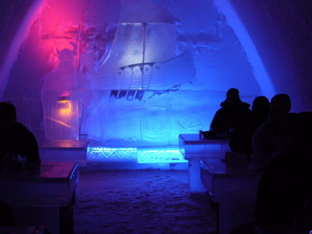 SnowCastle de Kemi, en Finlande - Photo libre de droits