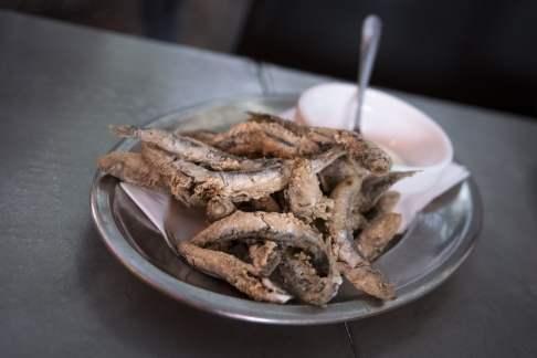 Tapas à Barcelone - Moritz: Anchois frits