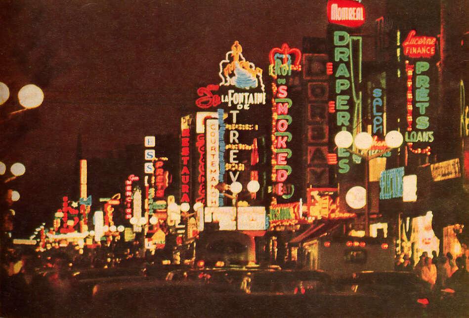 La plaza St-Hubert en 1963 - Crédit photo bilan.usherbrooke.ca
