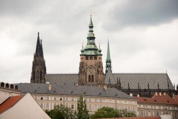 Coda, Prague - La vue de la terrasse du restaurant