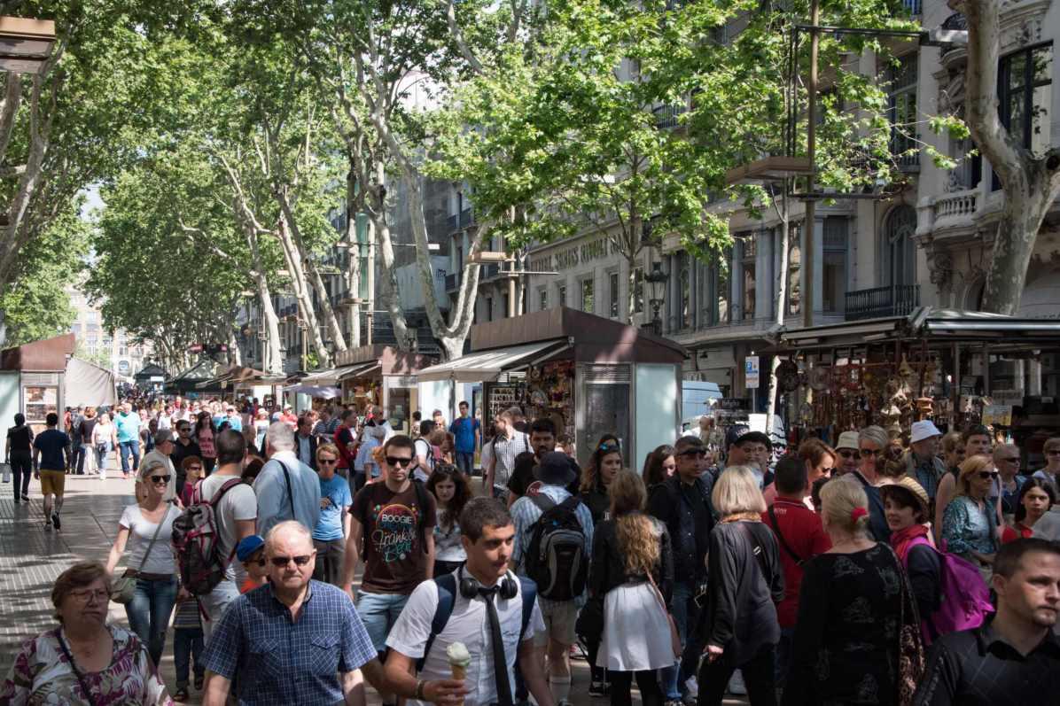 Pays qui profitent le plus du tourisme - Espagne. Ici, La Rambla, Barcelone. - Photo © Cedric Lizotte
