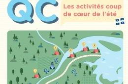 Infographie sur les activités coup de cœur de l'été par Anugo.ca