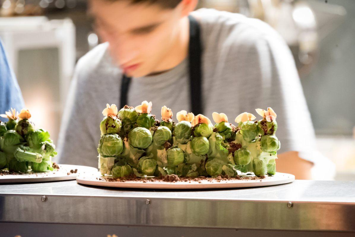 Lancement du Star of Bombay au restaurant HVOR - Choux de Bruxelles farcis au foie gras