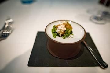 Tian, restaurant végétarien à Munich - Épinards, poireau, ail