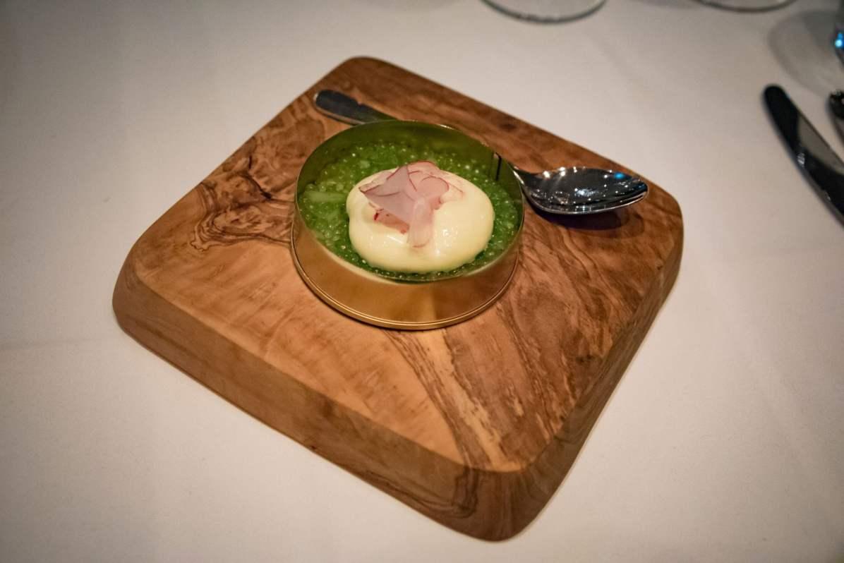 Tian, restaurant végétarien à Munich - Tapioca de concombre