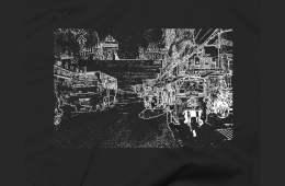 Black t-shirt - Bangkok - http://foodie.voyage