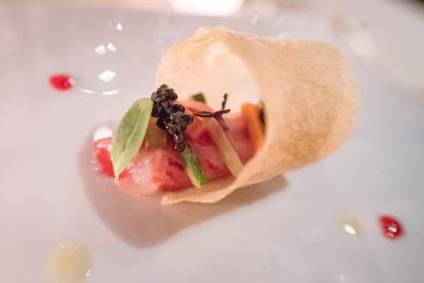 La Pergola, Rome - Shrimp, caviar, potato crisp