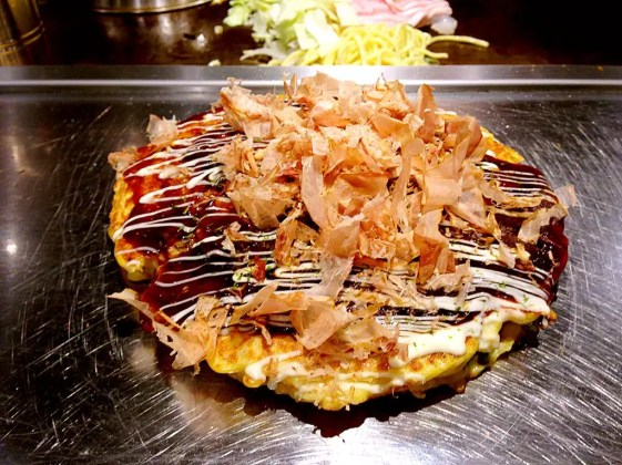 Best place to stay in Osaka: okonomiyaki