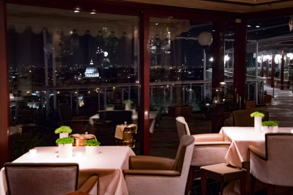La Pergola, Rome - La vue, de ma table