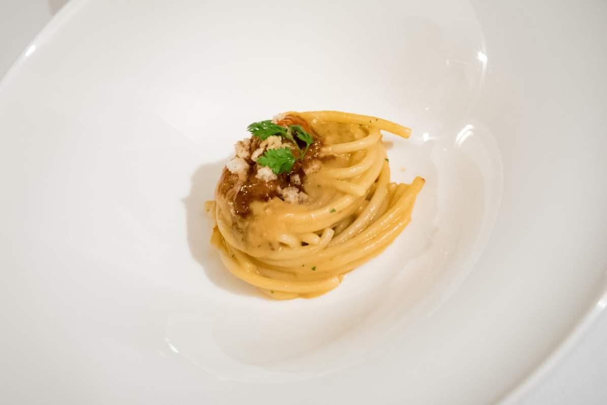 Restaurant Assaje Rome - Pâtes à l'oursin
