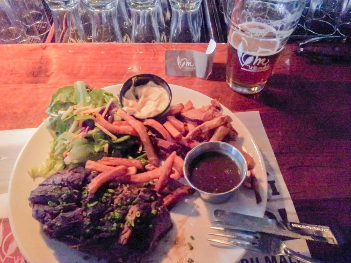 Quebec Craft Beer: My Meal at La Voie Maltée