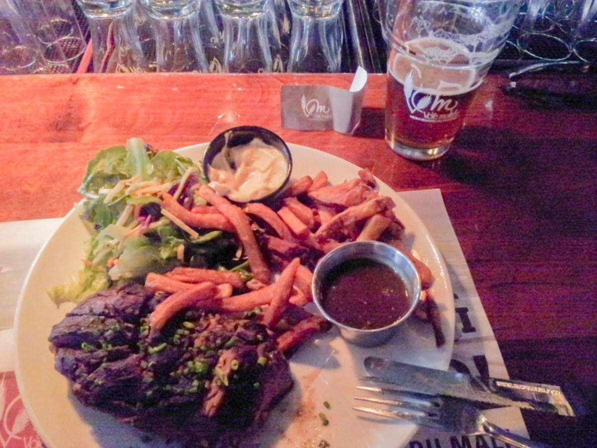 Quebec Craft Beer: My Meal at La Voie Maltée