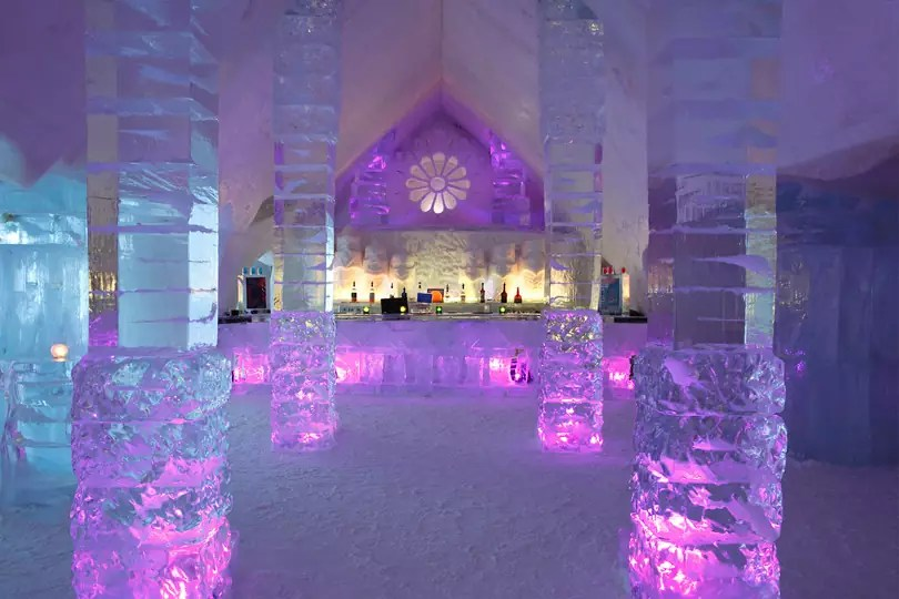 Ice and Snow Hotel - Hotel de Glace in Quebec, Canada - Royalty Free Stock Photo
