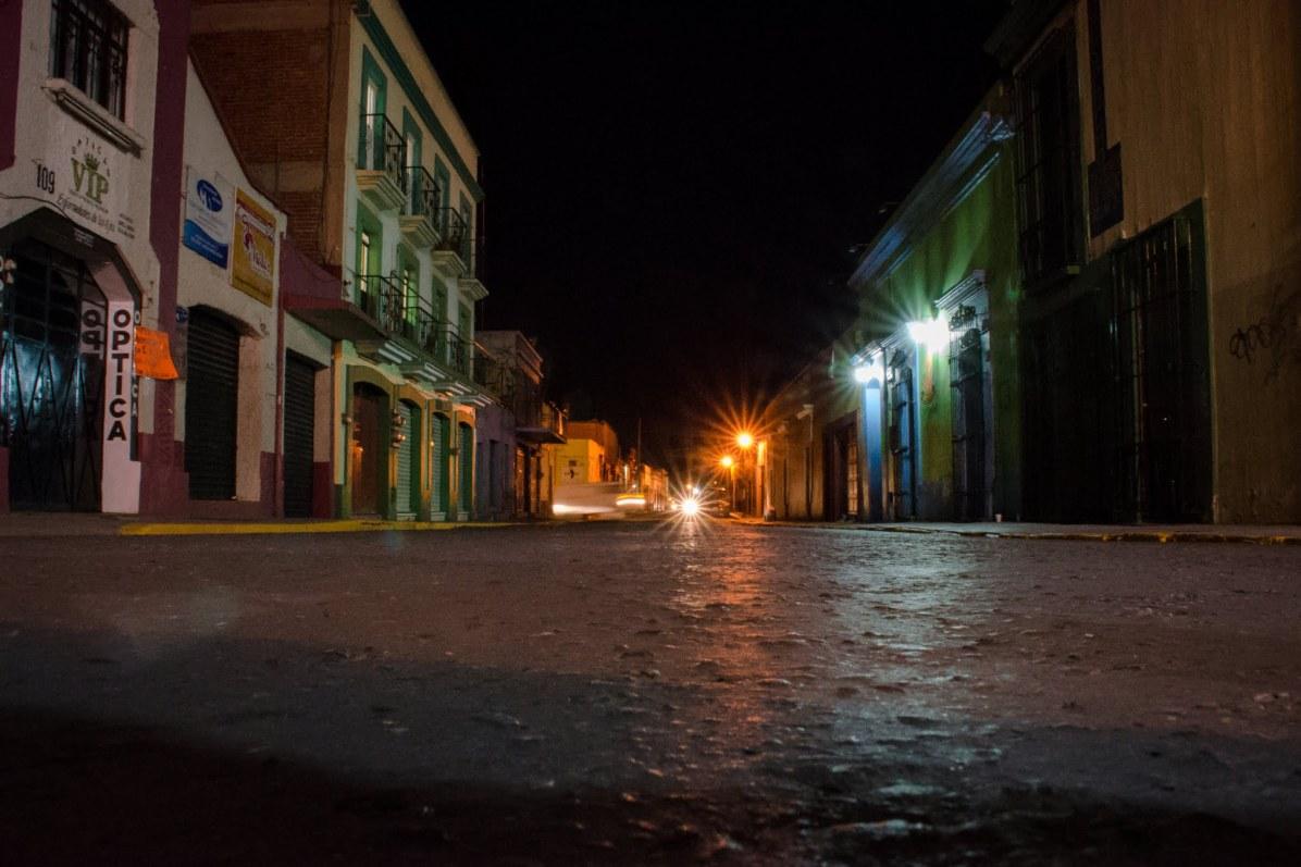 Oaxaca City at night - Things to do in Oaxaca