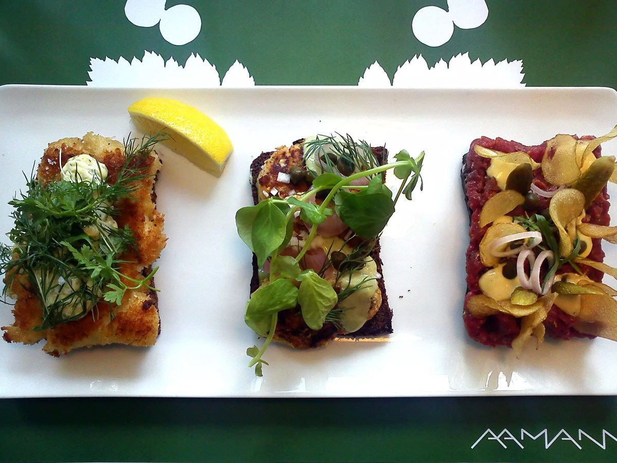 Delicious Destinations Copenhagen Demark - Fish variety of open sandwich