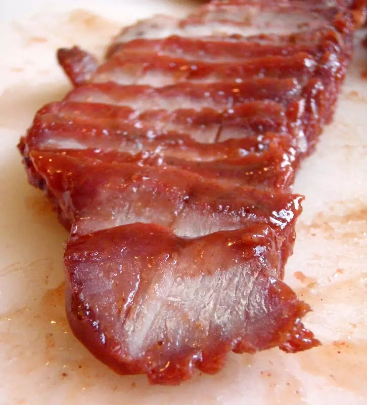 Roasted marinated pork