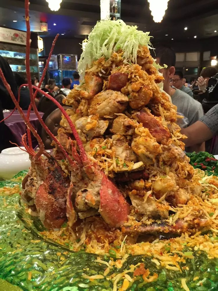 Delicious Destinations Toronto - A tower of fried breaded lobsters