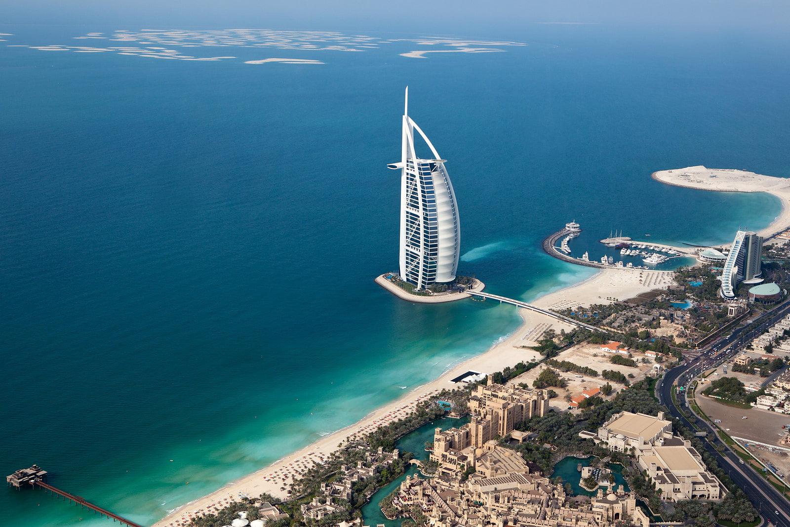 Dubai - Burj Al Arab - Helicopter View - photo by Sam valadi under CC BY 2.0