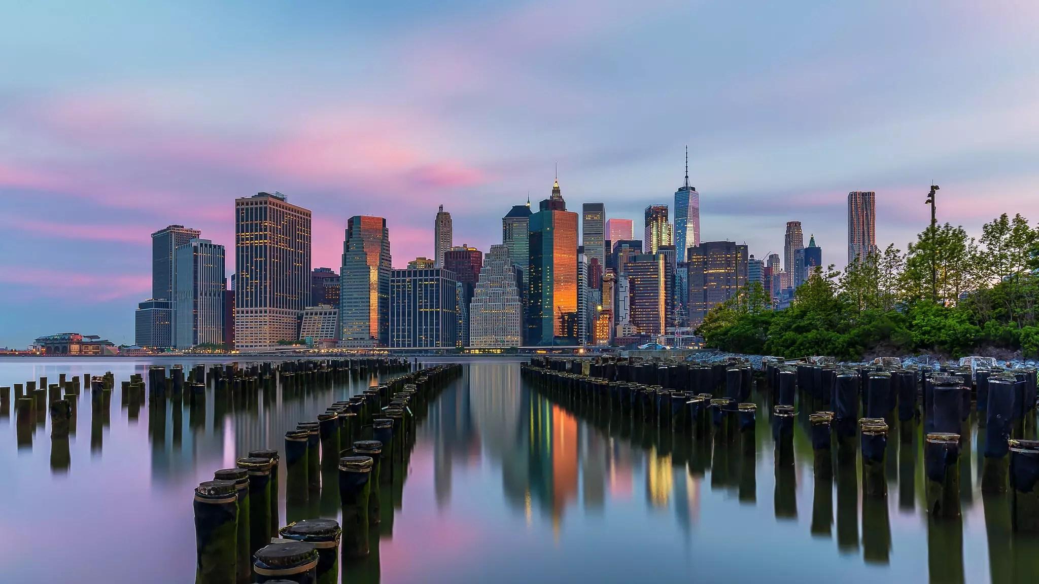 Brooklyn Bridge Park at sunrise - photo by Lukas Schlagenhauf under CC BY-ND 2.0