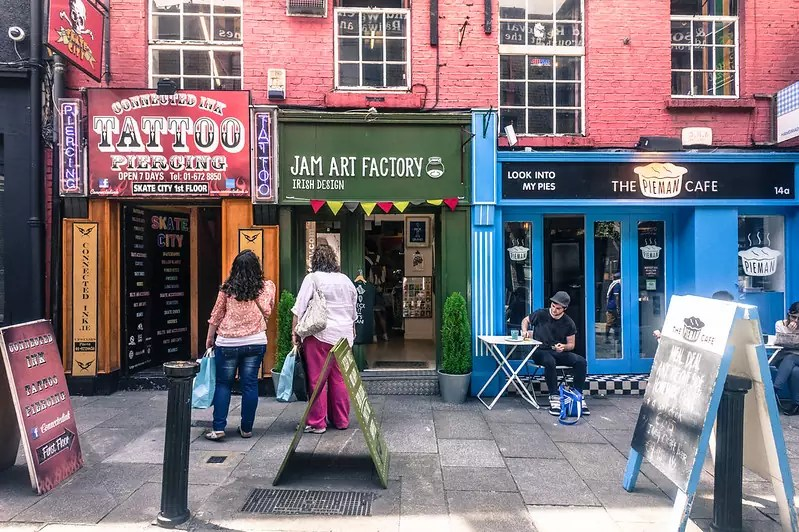 Jam Art Factory in Temple Bar, Dublin - photo by William Murphy under CC BY-SA 2.0