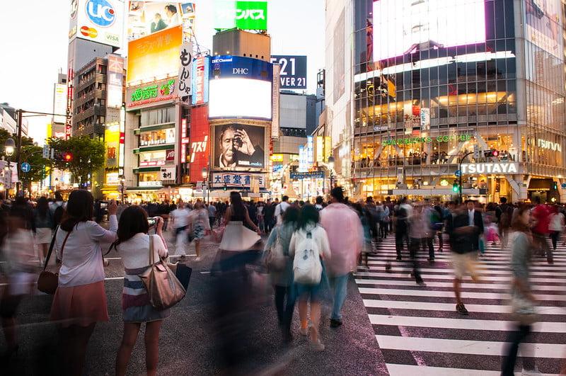 Shibuya Crossing in Tokyo, Japan - photo by Ben & Gab under CC BY 2.0