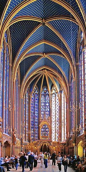 Sainte-Chapelle - Upper Chapel, Paris, France - photo by Didier B (Sam67fr) under CC-BY-SA-2.5