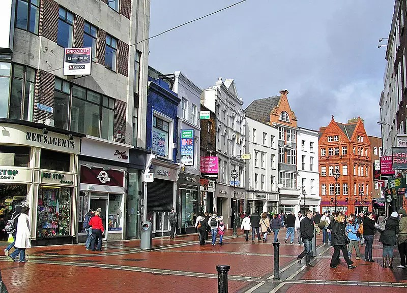 best shopping in Dublin - Grafton Street, Dublin, Ireland - photo by Donaldytong under GFDL and CC-BY-SA-3.0