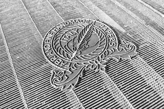 Fabriano tissue paper watermark - photo by Donatello Trisolino from Pexels under CC0