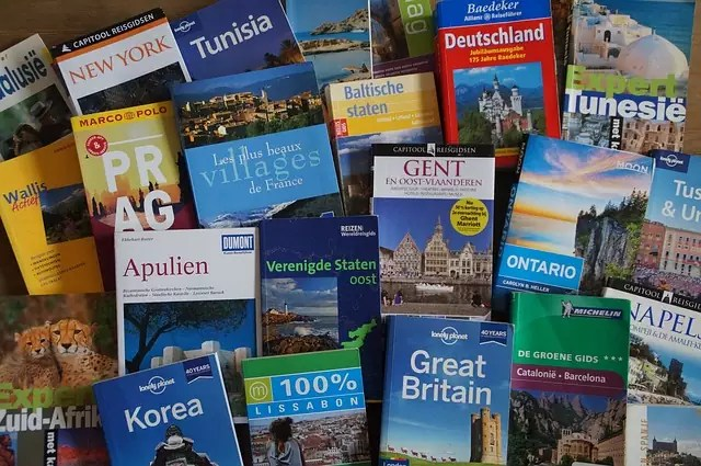 travel books - photo by  Theo Peenstra from Pixabay under Pixabay License