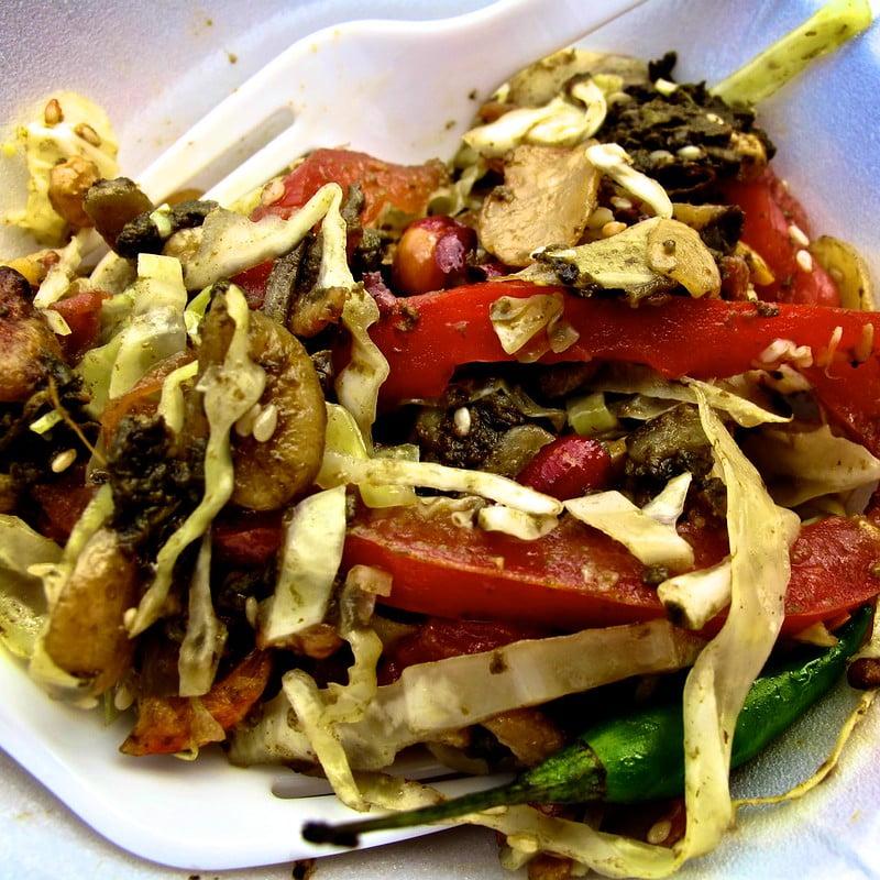 Burmese Tea Leaf Salad - photo by leesean under CC BY-SA 2.0