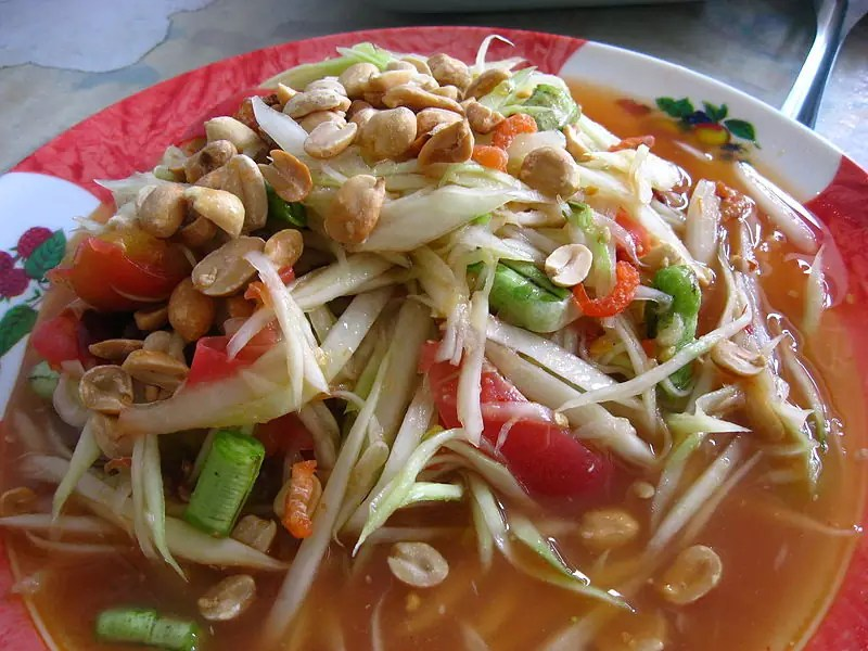 Delicious Destinations Bangkok - Som Tam - photo by Dragfyre under CC-BY-SA-3.0