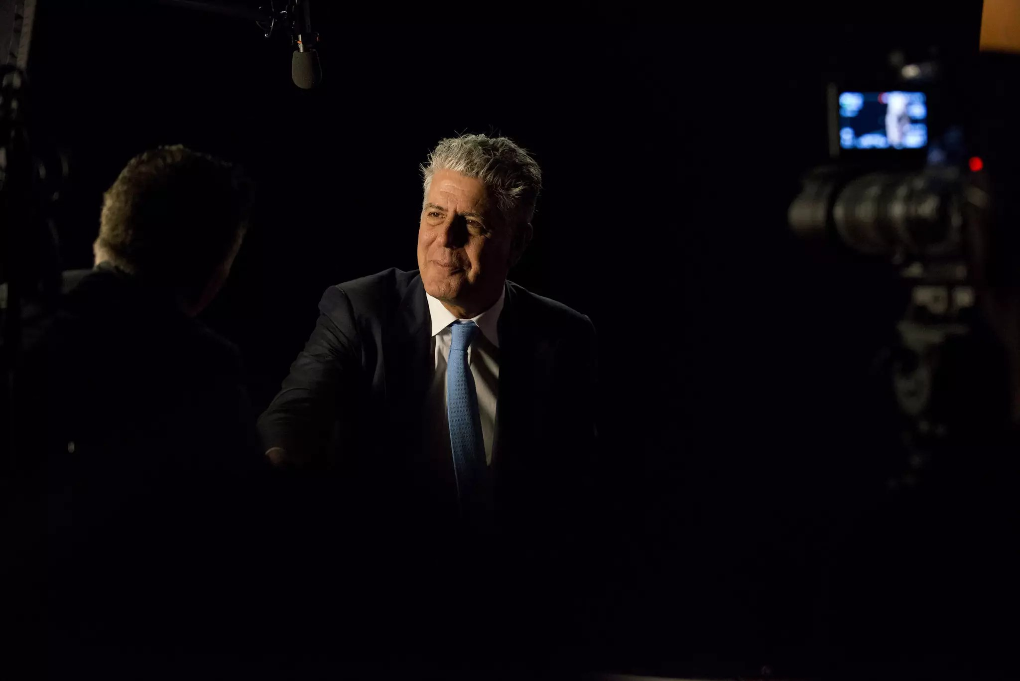 """Anthony Bourdain during the Peabody interview for """"Parts Unknown."""" - photo by Peabody Awards under CC BY 2.0"""