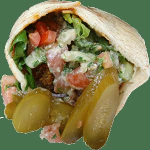 Anthony Bourdain Beirut - Falafel on pita bread - photo by Mera136 under CC BY 2.0