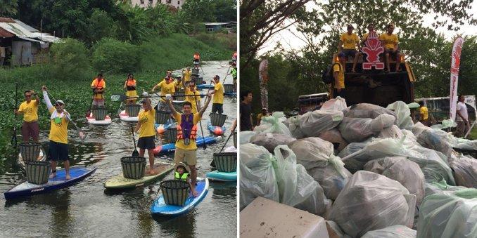 Collecting trash in Bangkok