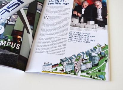 Illustration Energieprojekt IT-EUREF-Campus im Magazin 2014 der GASAG