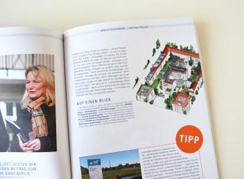 Illustration Energieprojekt Berlin-Lichtenberg im Magazin 2014 der GASAG